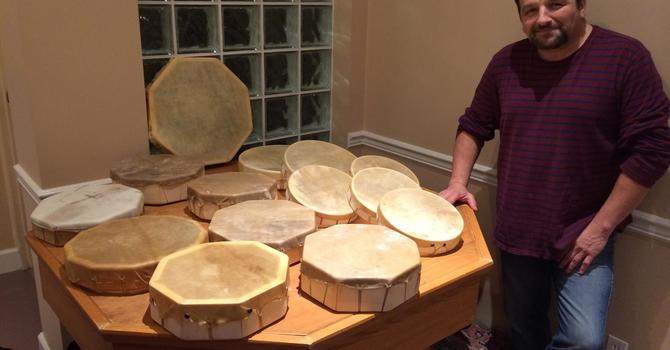 Drum Making at St. George's, Vancouver image