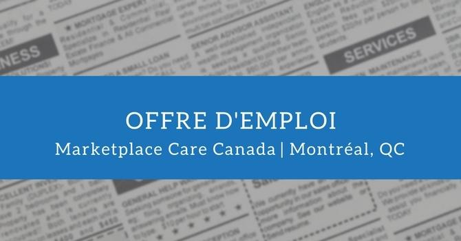 Offre d'emploi: aumônier ou aumônière avec Marketplace Care Canada image