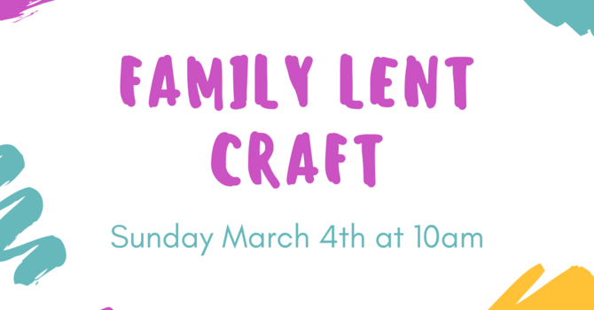 Family Lent Craft image