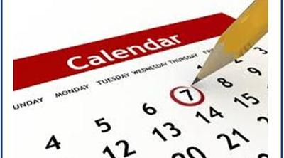 2017 Church calendar