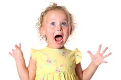 Very excited kid