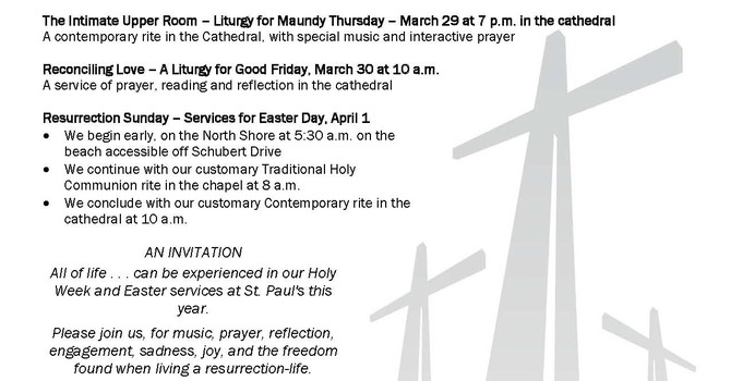 Worship for HOLY WEEK AND EASTER at St. Paul's Cathedral image