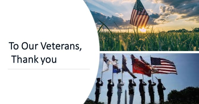 To Our Veterans, Thank You! image