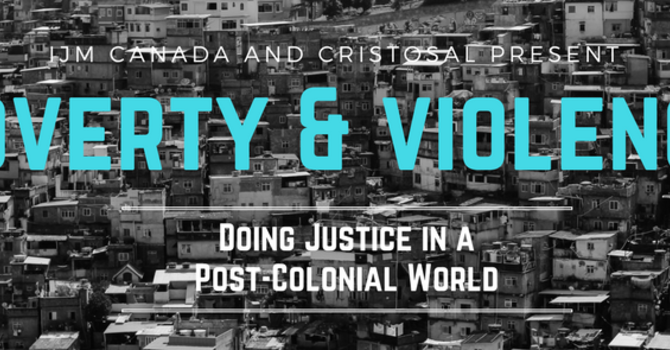 EVENT CANCELLED - POVERTY & VIOLENCE