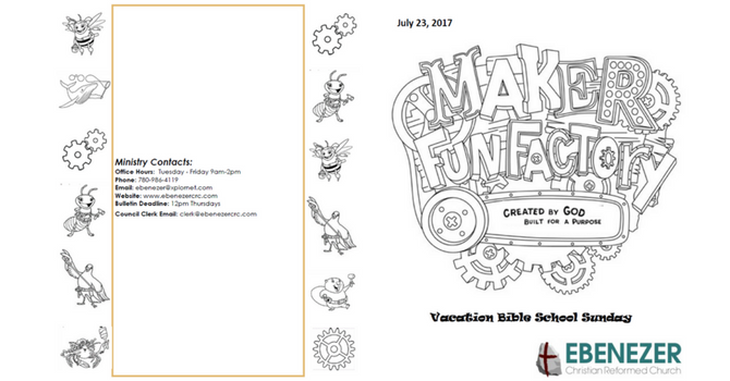 July 23, 2017 Bulletin image