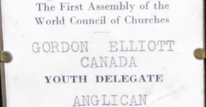 1948 WCC Name Tag to Travel to Korea image