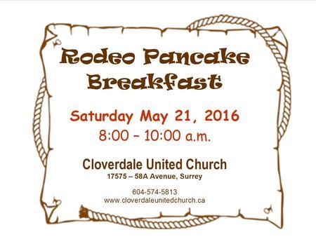 RODEO - Pancake Breakfast