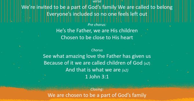 Marissa's Song - 1 John 3:1 image