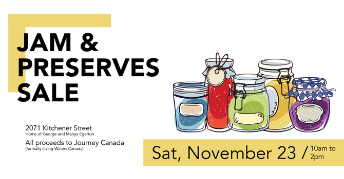 Jam Sale to support Journey Canada image
