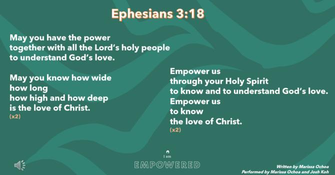 Ephesians 3:18 Song image