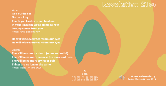 I AM HEALED song image