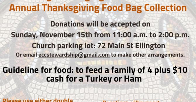 Thanksgiving Food Bag Mission