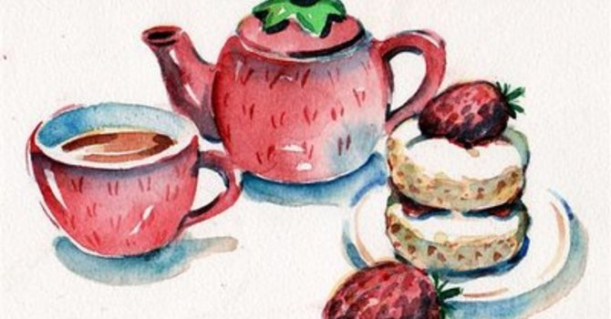 Strawberry Tea & Summer Fashions