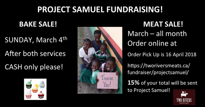 Project Samuel Fundraisers image