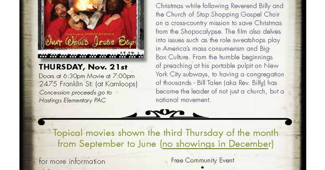 Meaningful Movies - What Would Jesus Buy? image