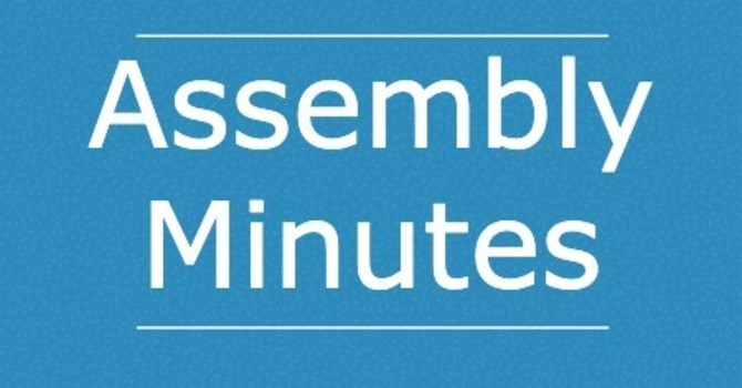 Past Assembly Minutes