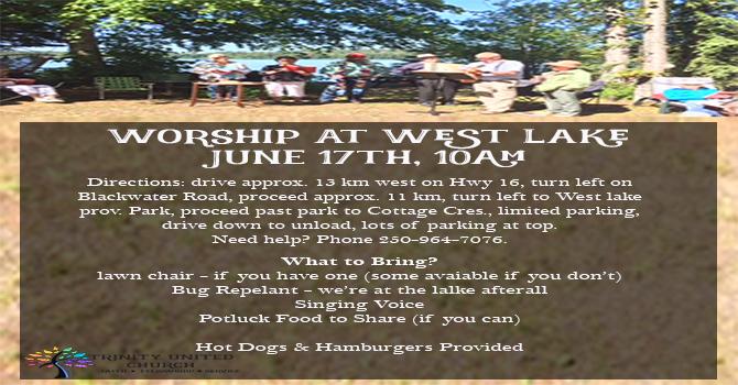 West Lake Worship June 17 @10am image
