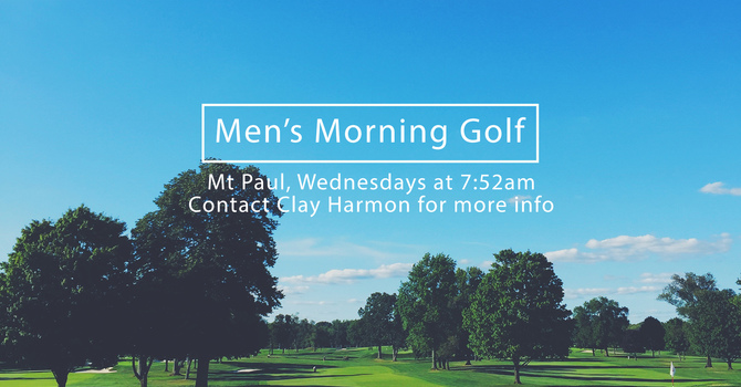 Men's Ministry Golf image