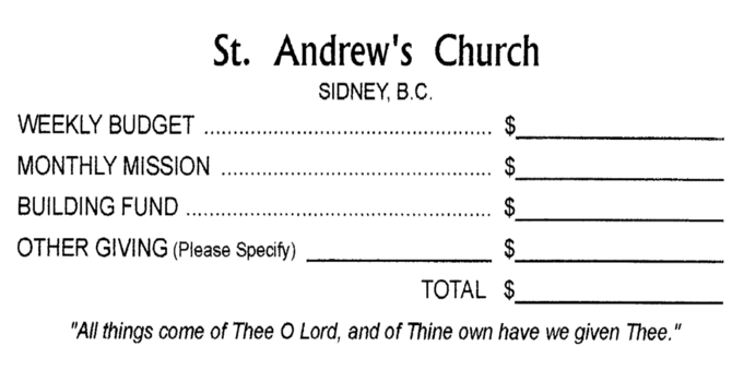 Church Office accepting offerings image