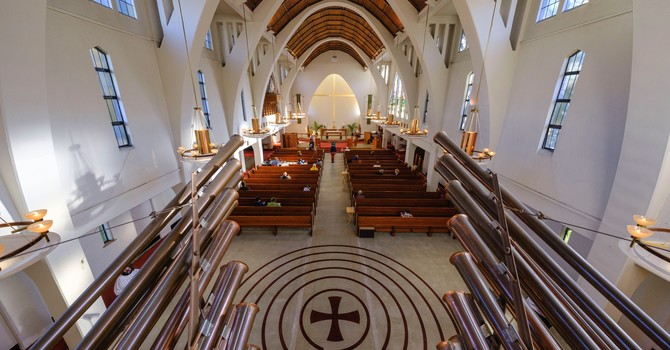 View of the Labyrinth at St. John's, Shaughnessy image