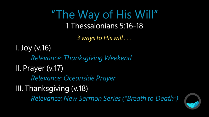 The Way of His Will