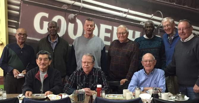 Men's group Christmas breakfast image