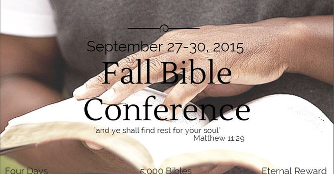 2015 Bible Conference Underway!  image