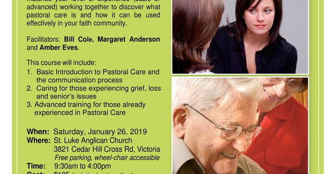 Pastoral Care Training Opportunity - 26th Jan 2019  9:30am-4pm image