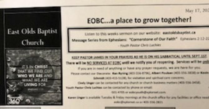 May 17, 2020 Church Bulletin image