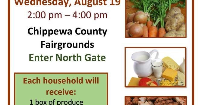 FREE Food Distribution for Chippewa County residents image