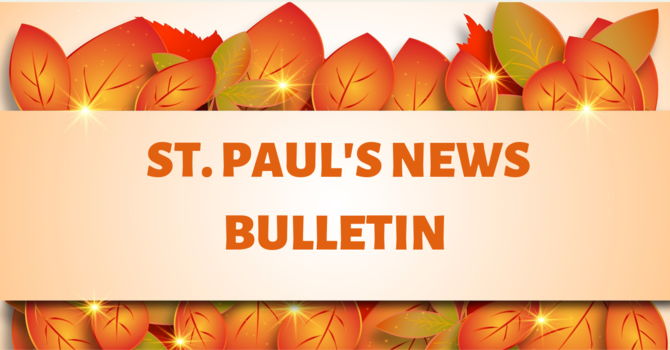 St. Paul's October 27 News Bulletin image