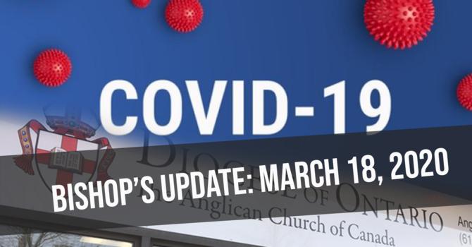 Bishop's Update: March 18, 2020 image
