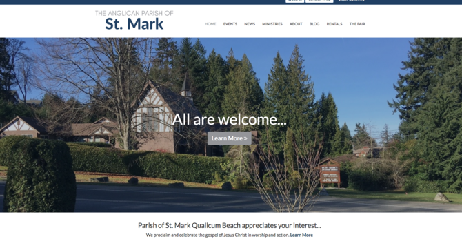 St Mark, Qualicum Beach Launches New Website image