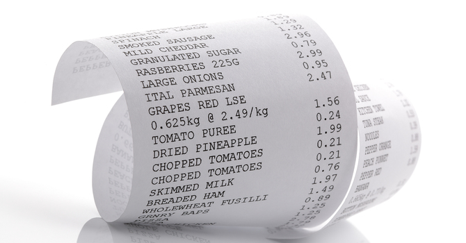 Clayton's Grocery Receipts image