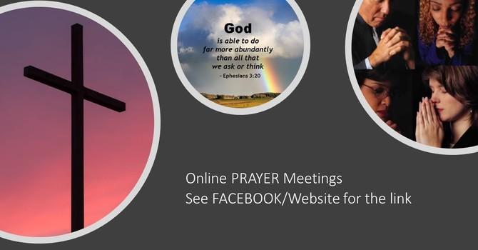 ONLINE PRAYER AT 2:30 PM on Facebook LIVE image