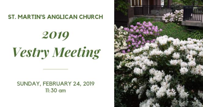 2019 Vestry Meeting