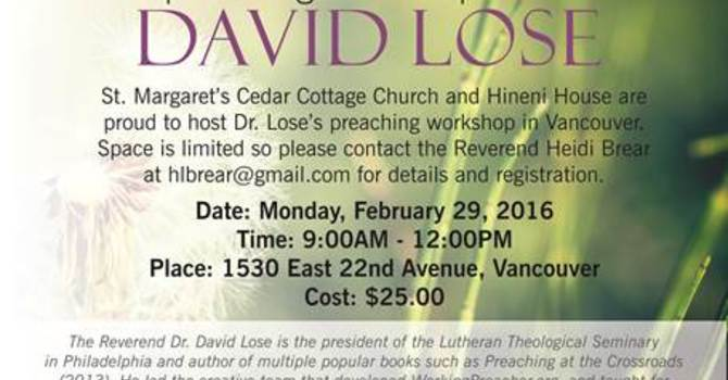 Preaching Workshop with David Lose