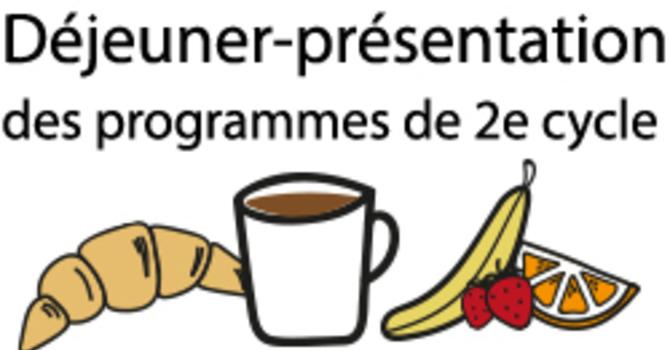 Déjeuner-présentation programmes 2e cycle ETEQ
