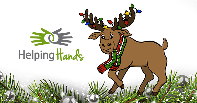 Helping Hands Christmas #volunteermoose Challenge image