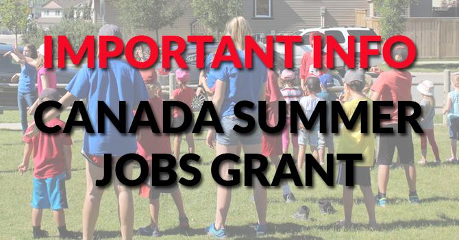 Summer Jobs Grant Info image