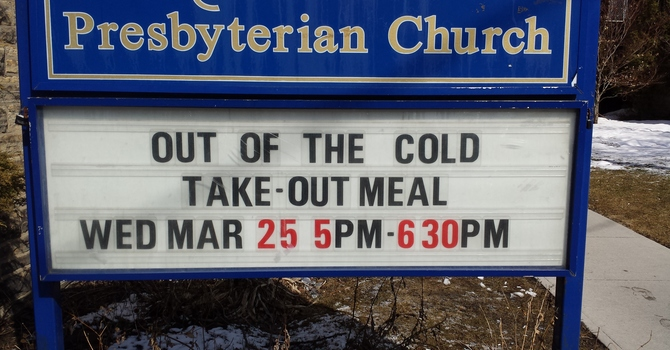 TAKE-OUT MEAL FOR PEOPLE IN NEED, WED, MARCH 25, 5PM-6:30PM image