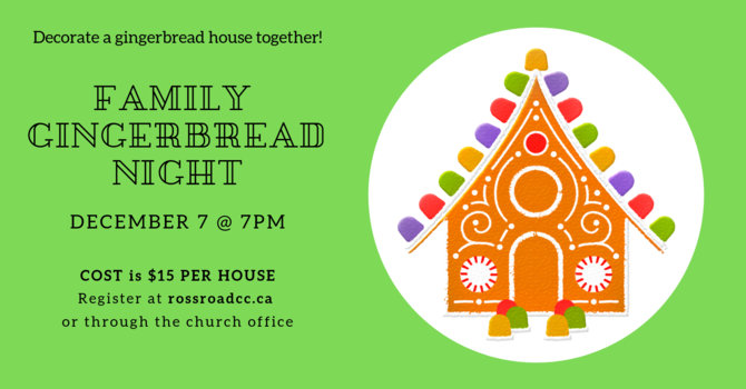 Family Gingerbread Night image