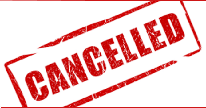 Senior Men's Lunch Cancellation image