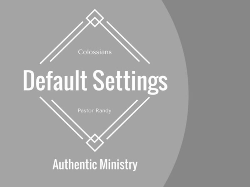 Authentic Ministry