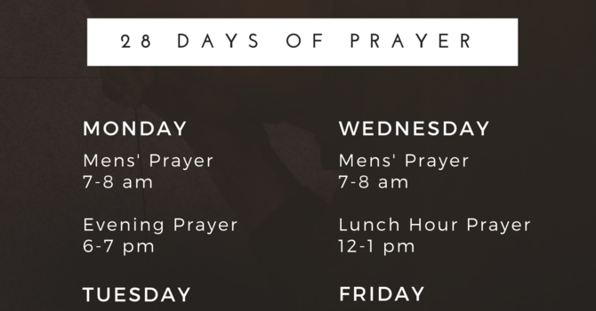 28 Days of Prayer Opportunities  image