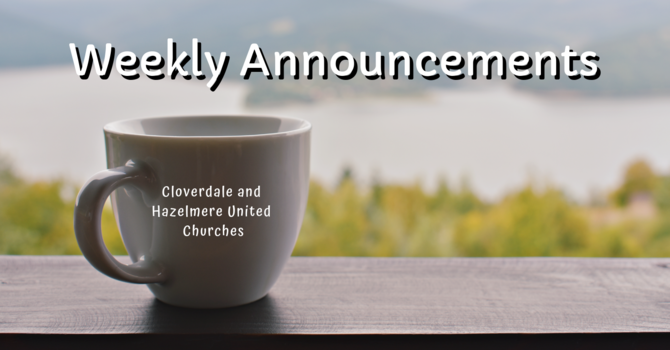 Announcements for October 2019 image