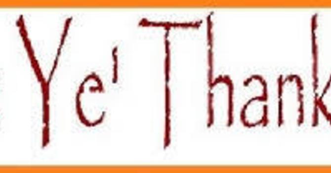 Be Ye Thankful