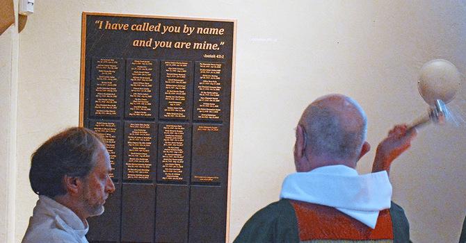 Dedication of the Memorial Garden Plaque at CCC
