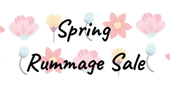Spring Rummage Sale