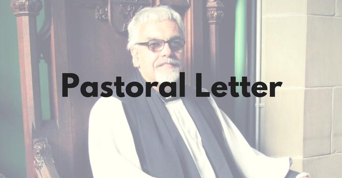 Pastoral Letter - Marriage Canon Amendment  image